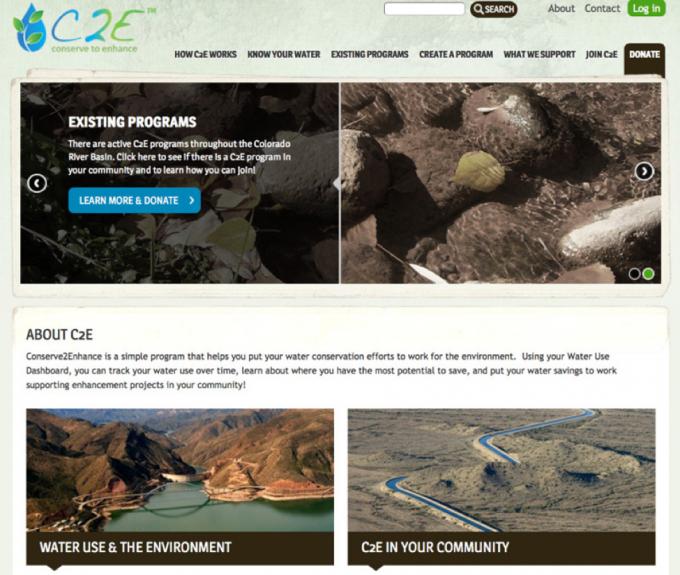 Conserve2Enhance website screenshot