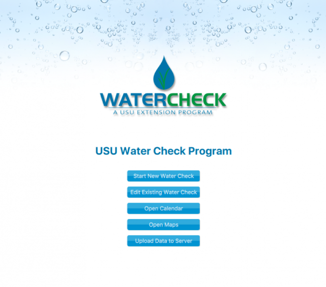 water check app interface